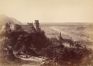 Heidelburg Panoramic View Germany Old Photo 1890