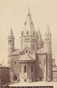 Mainz Dom Cathedral North Facade Germany Old Photo 1890