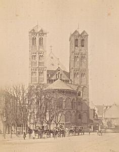 Koln St Gereon Church Horse Cars Germany Old Photo 1890