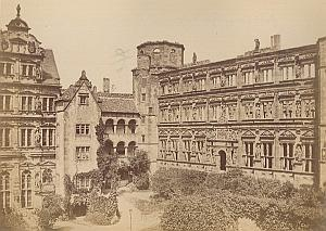 Heidelberg Castle Renaissance Architecture Germany Old Photo 1890