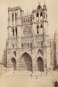 Amiens Cathedral Facade France Old Photo 1890