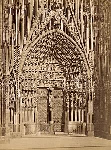 Strasburg Cathedral Facade Germany Old Photo 1890
