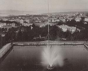 Norway Oslo Panoramic City View Old Photo 1890