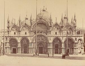Venezia Piazza San Marco Italy Old Alinari Photo 1880