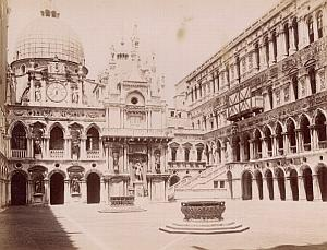 Venezia Palazzo Ducale Cortile Italy Old Photo 1880
