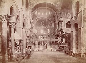 Venezia San Marco Church Interior Italy Old Photo 1880