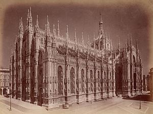 Milano Cathedral Panorama Italy Old Brogi Photo 1880