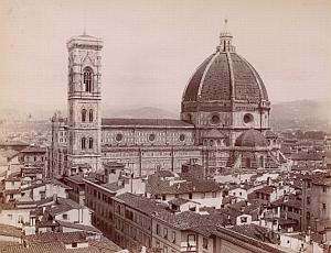 Firenze Cathedrale Orsanmichele Italy Old Photo 1880