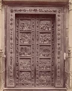 Firenze Porta del Paradisio Italy Old Brogi Photo 1880