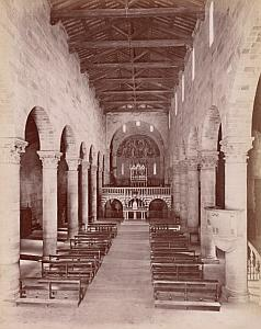 Firenze Cattedrale Fiesole Italy Old Brogi Photo 1880