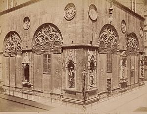Firenze Chiesa di Or S Michele Italy Old Photo 1880