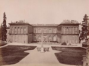 Firenze Palazzo Pitti Garden Italy Old Brogi Photo 1880