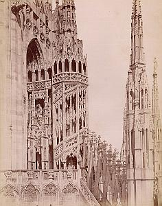 Milano Santa Maria Grazie Church Italy Old Photo 1880