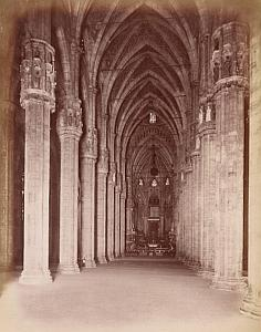 Milano Interno della Cattedrale Italy Old Photo 1880