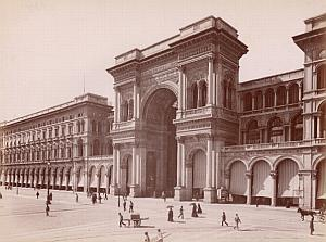 Milano Galleria Vittorio Emanuele Italy Old Photo 1880