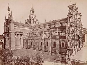 Certosa di Pavia Facciata Italy Old Brogi Photo 1880