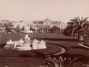 Nice Casino Gardens France Old Gilletta Photo 1900