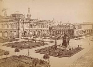 Dresden Zwinger Museum Garden Germany Old Photo 1880