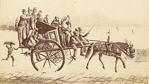 Napoli Calessa di Resina Italy Old CDV Photo 1880