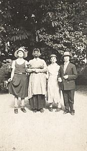 Four Friends Carnaval Day Lille Snapshot Photo 1933