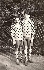 The Two Brothers Geometrical Fashion Snapshot 1920
