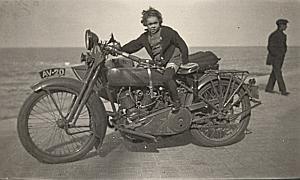 Belgium Ostende Moto Harley Davidson Snapshot 1930