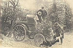 Snapshot Photomontage Accident Veteran Car 1895