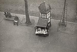 Paris Kiosk Study Low-Angle Shot Snapshot Photo 1946