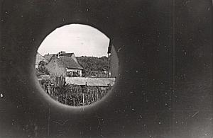 France Arbois Through Battlement Snapshot Photo 1945