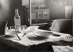 Lunch Table Study Still Life France Snapshot 1940