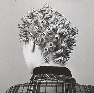 France Hair Head Study Composition Old Photo 1945