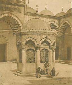 Constantinople Men Mosque Robertson Salt Print 1854