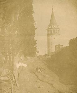 Constantinople Galata Tower Robertson Salt Print 1854