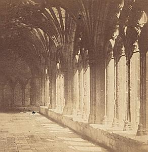 Cloister possibly Venezia Italy old stereo Photo 1870