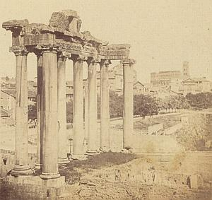 Foro Romano Roma Italy old stereo Photo 1870