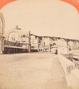 Casino Dieppe France Old Neurdein stereo Photo 1870