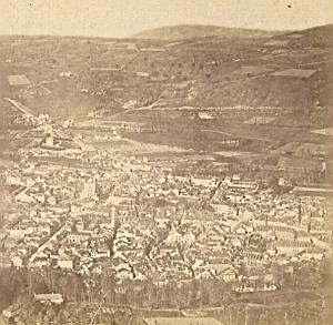Bagneres de Bigorre France Old stereo Photo 1880