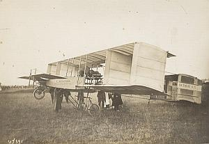 Paulhan plane Octavie n°3 Early Aviation Old Photo 1909
