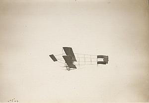 Farman plane Reims Early Aviation Old Photo 1909