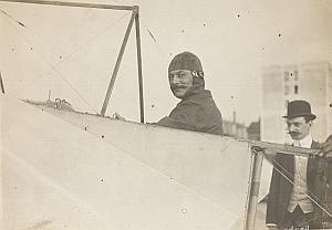 Ace pilot Leblanc Reims Early Aviation Old Photo 1909