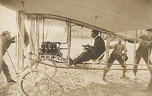 Bleriot XII Monoplane Early Aviation Old Photo 1909