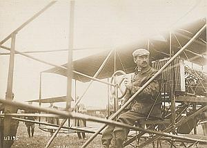 US Pilot Curtiss Reims Early Aviation Old Photo 1909