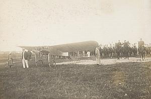 Delagrange Plane Reims Early Aviation Old Photo 1909