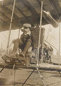 Sommer Biplan Farman Reims Early Aviation Photo 1909