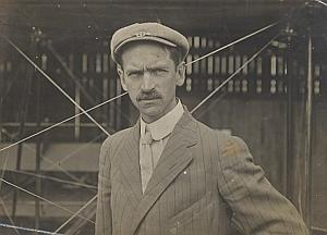US Pilot Glenn Curtiss Reims Early Aviation Photo 1909
