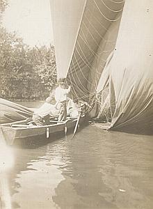 Balloon Clement Bayard Accident Seine river Photo 1909