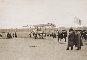 Tetard Biplan Bristol Vincennes Aviation old Photo 1911