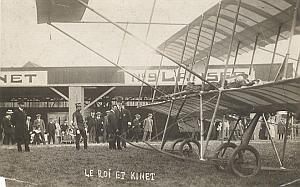 Belgian King & Kinet Early Aviation old Photo 1910