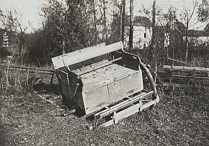 Monthyon German Car abandoned WWI old Photo 1918