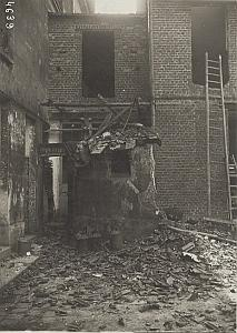 Rue de Paris at Saint Denis Shelling WWI old Photo 1915